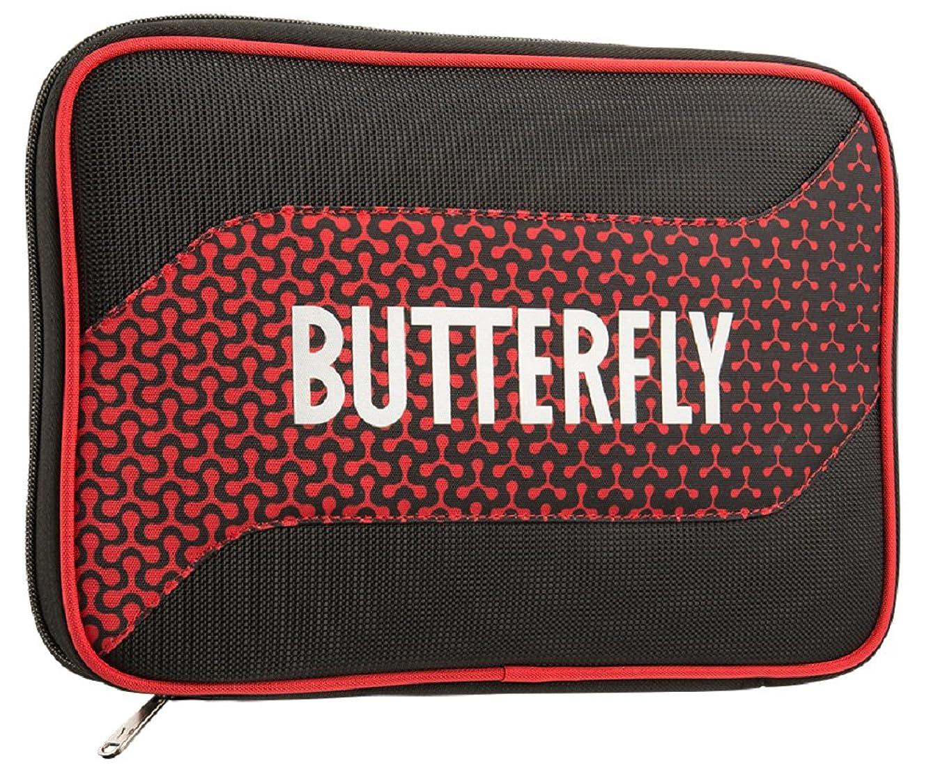 厚くするスリット早めるバタフライ(Butterfly) 卓球 ラケットケース メロワ?ケース 62800 レッド(006)