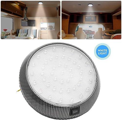 Lampe de camping - Spot LED ultra fin pour intérieur de camping-car blanc et bleu avec interrupteur marche/arrêt - Po...