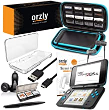 2DSXL Accessories, Orzly Ultimate Starter Pack for New Nintendo 2DS XL (Bundle Includes: Car Charger/USB Charging Cable/Co...
