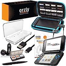 Orzly Accesorios 2DSXL, Pack New Nintendo 2DS XL [Paquete Incluye: Cargador de Coche/Cable USB/Funda para Consola/Fundas para Cartuchos y más…] (Véase descripción para más información)