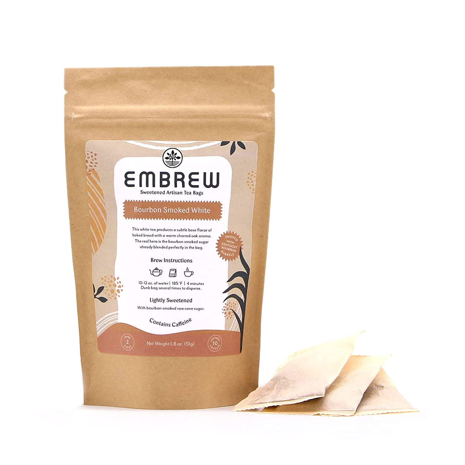 Embrew – New Orleans Mall Bourbon Smoked White Lightly Sweetened Tea Max 54% OFF Bags A