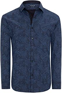 Connor Men's Richard Slim Shirt Long Sleeve Cotton Slim Tops Sizes XS-3XL Affordable Quality with Great Value