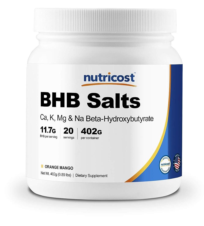 好意不運足音Nutricost BHB パウダー(外因性ケトン塩)、オレンジマンゴー味、非GMO、グルテンフリー