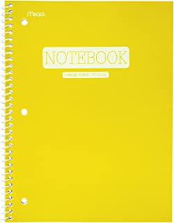 Mead Spiral Notebook, 1 Subject, College Ruled Paper, 70 Sheets, 10-1/2