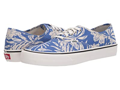 Vans Authentic SF ((Floral Linen) True Blue/Marshmallow) Lace up casual Shoes