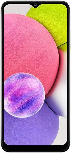 هاتف سامسونج جالكسي A03s ال تي اي ثنائي شريحة الاتصال - سعة 32 جيجا، رام 3 جيجا، ابيض (اصدار KSA )