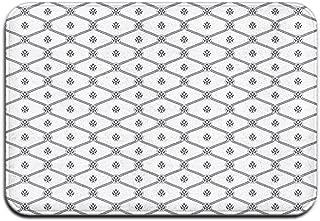 Memory Foam Bath Mat Non Slip Absorbent Super Cozy Plush Bathroom Rug Carpet,Symmetrical Marine Themed Abstract Image Sea Rope and Nautical Logo Pattern,Decor Door Mat 23.6 X 15.7 Inches