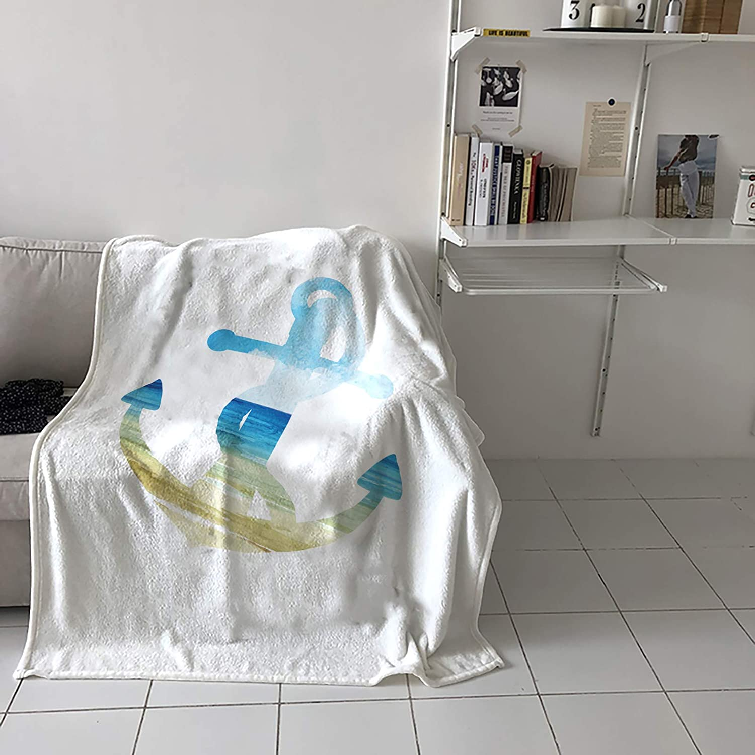 Advancey Super Soft Blankets and Throws wi Anchor Popular product Beach Ranking TOP3 Star Sea