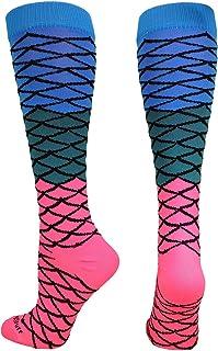 MadSportsStuff Neon Mermaid Athletic Over The Calf Socks