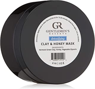 Gentlemen's Reserve Clay and Honey Face Mask for Men - All-Natural, Organic, Anti-Aging & Detoxifying - Made in USA for All Skin Types - 4 oz