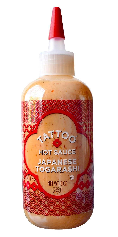 Tattoo Hot Sauce, Japanese Togarashi, 9 Ounce Squeeze Bottle (255 Grams)