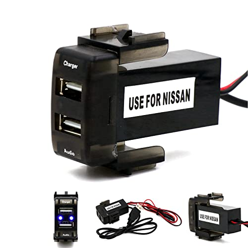 Special Dedicated Car 5V 2.1A USB Interface Charger and USB Audio Input Socket Use for