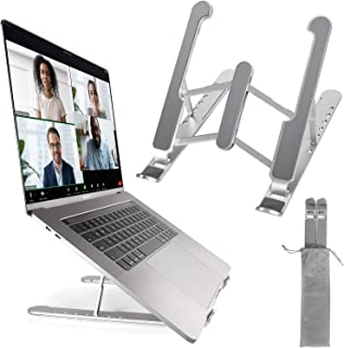 Portable Laptop Stand for Desk,Laptop Holder Riser Computer Stand, Aluminum 7-Angles Adjustable Height Ergonomic Foldable ...