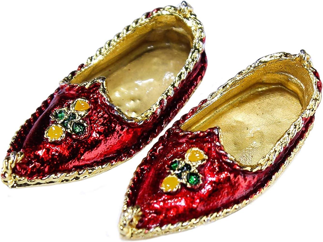 Nashville-Davidson Mall Deities Multi Popular product Colour Metal Shoes Jutiya G 5 cm Size Metallic