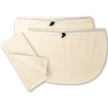 Clarkia Cotton Kitchen Strainer Set - [Pack of 3] - 2 Yogurt Strainers and 1x1 meter Muslin Cloth - Unbleached