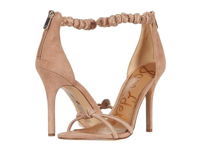 Sam Edelman  Aria (Toasted Almond Suede Leather/Silk Dupioni) Womens Shoes