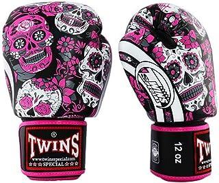 color negro y plateado Twins Special Guantes de boxeo con dise/ño de drag/ón volador