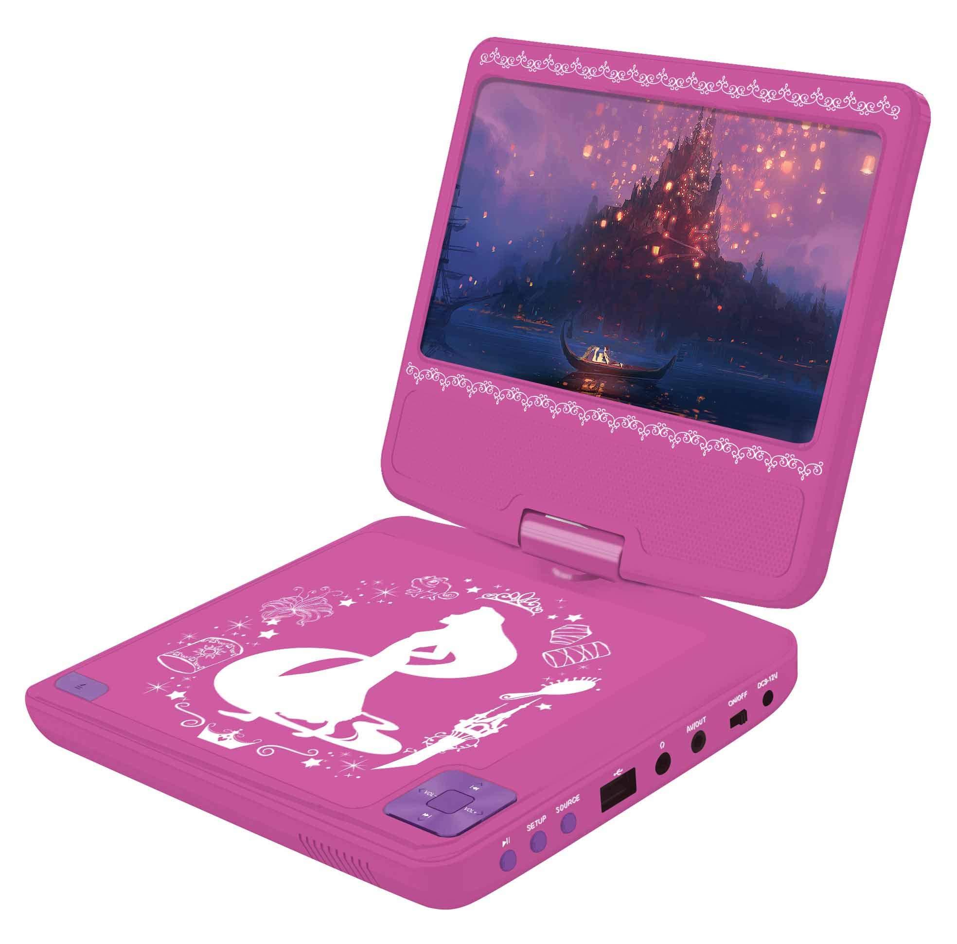 Amazon.es: Princesas Disney Disney Princesas - Lector DVD portátil con Puerto USB y mando a distancia, batería recargable (Lexibook DVDP6DP), Color rosa (