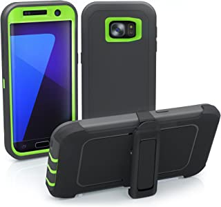 Galaxy S7 Edge Case, ToughBox [Armor Series] [Shock Proof] [Gray | Lime] for Samsung Galaxy S7 Edge Case [Built in Screen ...
