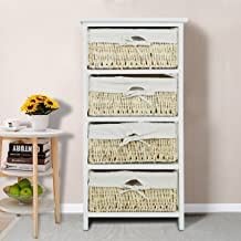 Hironpal Narrow Chest of 5 Drawers for Bedroom Tall Boy Storage Drawers Clothes Organizer Bedside Cabinet Table Wood Wardrobe Closet for Living Room Hallway Furniture