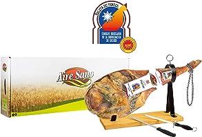 Paleta D.O.P. Teruel (4,5-6Kg) Gran Premier de Aire Sano + jamonero + cuchillo + chaira + estuche