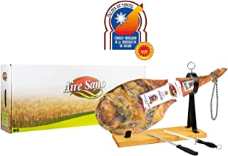 comprar comparacion Paleta D.O.P. Teruel (4,5-6Kg) Gran Premier de Aire Sano + jamonero + cuchillo + chaira + estuche