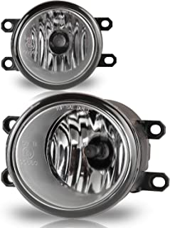 Fog Lights for TOYOTA 09-15 Corolla/ 07-12 Camry/ 08-12 Highlander/ 06-12 RAV4/ LEXUS 08-11 LX570/ 08-13 RX350 with Bulbs H11 12V 55W AUTOFREE Fog Lamps Assembly- 1 Pair (Clear Lens)
