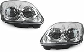 DEPO Chrome Clear Projector Headlights DOT Approved Fits 1997-2004 Chevy Chevrolet Corvette C5 - Compatible and Fits for Chevrolet
