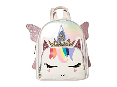 OMG! Accessories Metallic Rainbow Hair Fairy Queen Mini Backpack (White) Backpack Bags