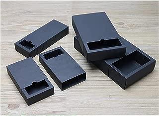 White Kraft Paper Christmas Gift Packaging Box Black Kraft Paper Drawer Boxes Craft Gift Jewelry Candy Box Packing Box,Black,80X80X40Mm