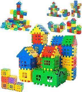 SaleOn 72pc DIY Puzzle House Blocks Building Blocks Education Toy Children Gift Brain Delvelopement Game Toy Non-Toxic Mat...