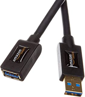 AmazonBasics USB 3.0 Extension Cable, A-Male to A-Female, 9.8 Feet (3.0m)