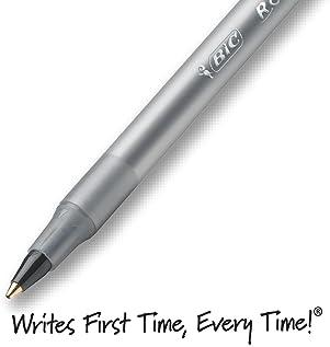 BIC Round Stic Xtra Life Ballpoint Pen, Medium Point (1.0mm), Black, 60-Count