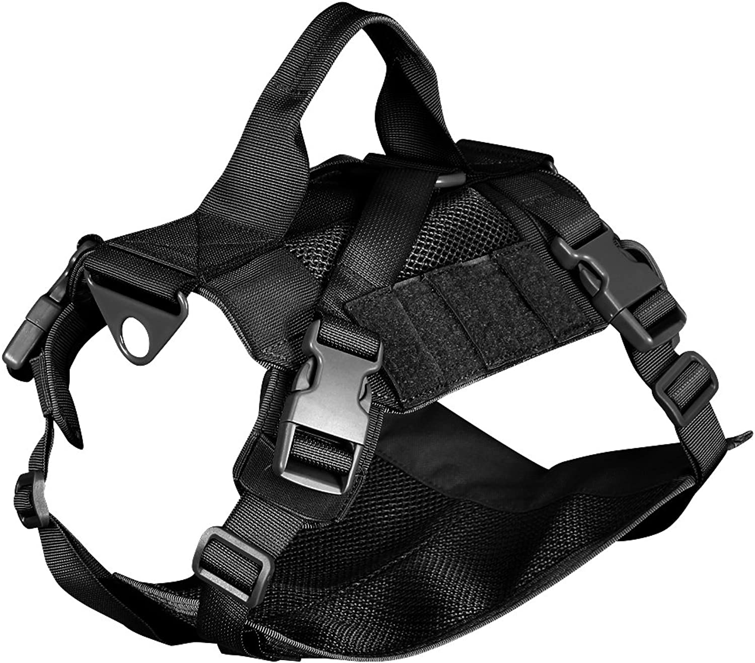 Outry Tactical Dog Training Vest, NoPull Harness, One Size Fits Most  Black