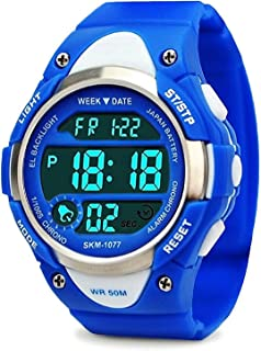 Boys Girls Sport Digital Watch, Kids Outdoor Waterproof...