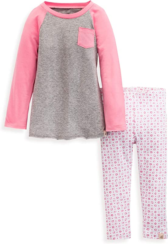 Burt S Bees Baby Baby Girls Top And Pant Set Tunic And Leggings Bundle 100 Organic Cotton