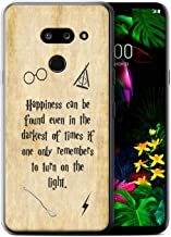 Phone Case for LG G8 ThinQ School of Magic Film Quotes Happiness/Darkest Times Design Transparent Clear Ultra Soft Flexi Silicone Gel/TPU Bumper Cover