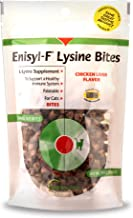 Vetoquinol Enisyl-F Lysine Bites: L-Lysine Chews for Cats & Kittens - Chicken Liver-Flavor, 6.4oz (180g) Reclosable Bag