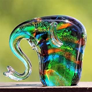 Art Glass Hand Blown Sale, 6-inch Glass Elephant by Deco4Sale