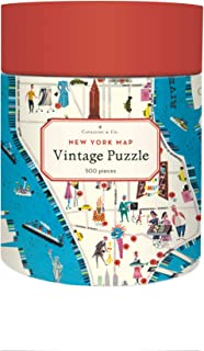 Cavallini Papers & Co. New York City Map 500 Piece Puzzle, Multi