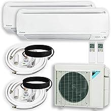 DAIKIN Dual (2 Zone) Air Conditioner Heat Pump + Maxwell 15 ft. Installation Kit + Wall Bracket (12000 + 1200 BTU)