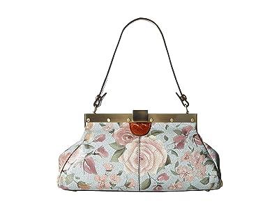 Patricia Nash Ferrara Satchel (Crackled Rose) Satchel Handbags