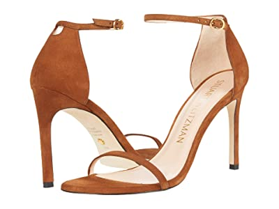 Stuart Weitzman Nudistsong Ankle Strap Sandal (Coffee) Women