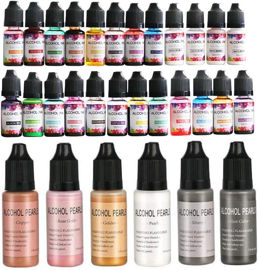30 Max 40% OFF Colors Super sale Epoxy Resin Diffusion Alcohol Ink Color Pigment Liquid