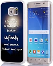 S6 Edge Plus Case Sayings About Love, Hungo Soft TPU Silicone Protective Cover Compatible with Samsung Galaxy S6 Edge Plus Case Inspirational Sayings About Life Love