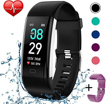 KITPIPI Fitness Tracker Waterproof Activity Tracker Fitness Watch Smart Bands with Heart Rate Blood Pressure Monitor Step Counter Calorie Counter Pedometer Activity Watch Tracker for Men Women Kids