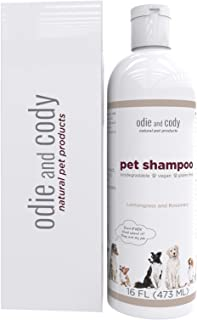 Odie and Cody Natural Dog Shampoo, Organic Pet Shampoo for Dogs, Cats, Puppies, Kittens, Guinea Pigs & More, Hypoallergenic, Soothes Dry Skin (16 oz) Made in USA