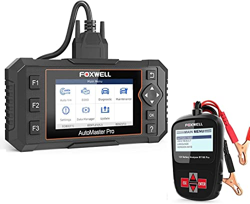 discount FOXWELL Car Battery Tester Analyzer BT100 Pro 2021 12V Automotive 100-1100CCA Detect Health Faults with outlet sale Foxwell All System Scanner NT644 Elite… online sale