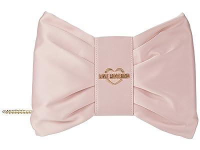 LOVE Moschino Bow Clutch (Pink) Handbags