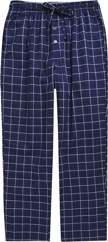 TINFL 15-18+ Years Youth Big Boys Plaid Check Soft 100% Cotton Sleep Lounge Long Pajama Pants